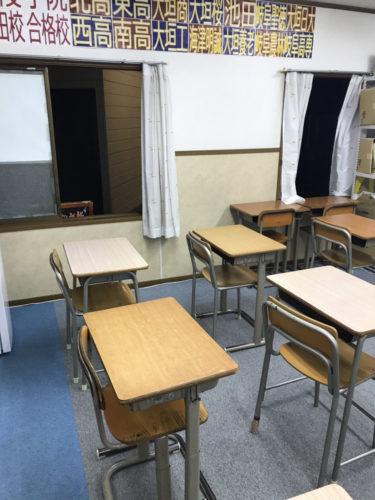 養老町の高田校です。授業後の換気もしっかりと行っています。