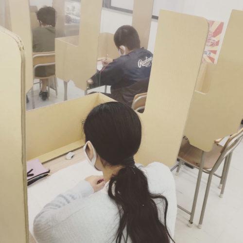 大垣外渕校 自習室でも頑張っています!(中村)