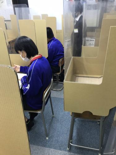 養老町の高田校です。連日の補習、今日は1年生です!