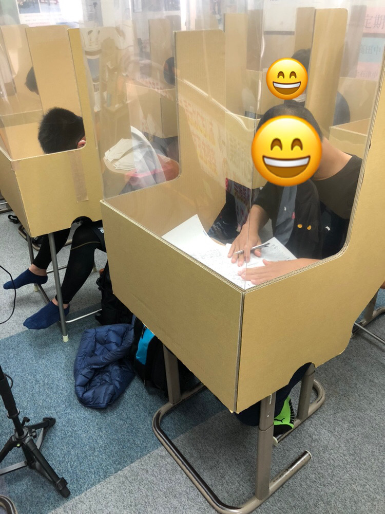 養老町の高田校です。テスト対策で頑張っています!