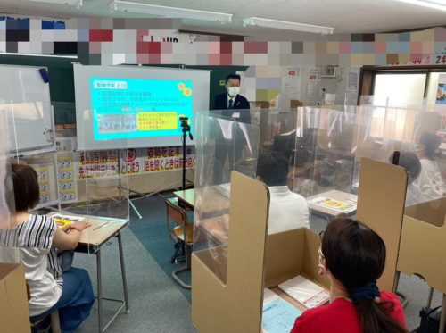 養老町の高田校です。第2回校舎説明会を行いました!